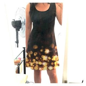 CowCow Black and Gold Dress